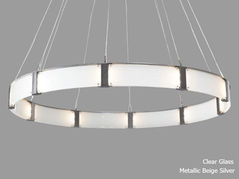 """Parallel Collection Ring Chandelier 72"""""""