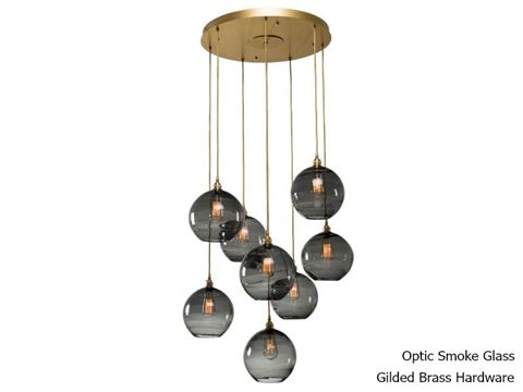Terra Round Multi-Port Pendant Chandelier 8 pc
