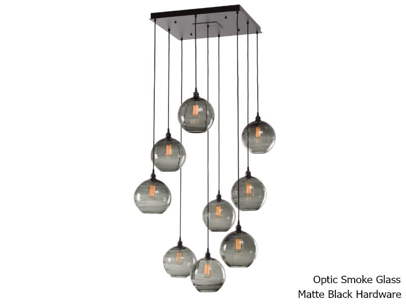 Picture of Terra Square Multi-Port Pendant Chandelier 9 pc