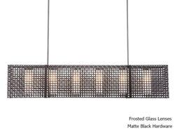 "Linear Chandelier | Tweed Mesh | 73"""