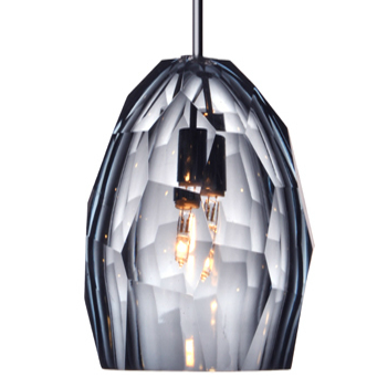 Picture of Pendant Light | Faceted | Smokey Gray