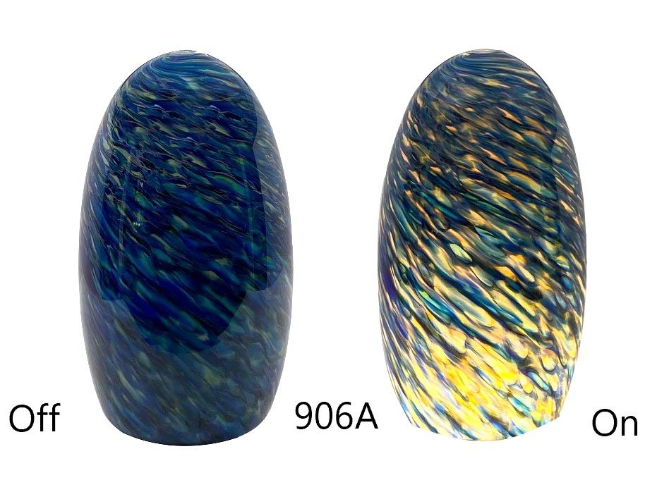 Picture of Blown Glass Pendant Light - Blue Sunshine