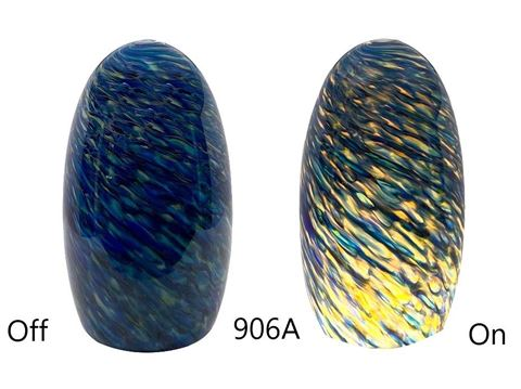 Blown Glass Pendant Light | Blue Sunshine