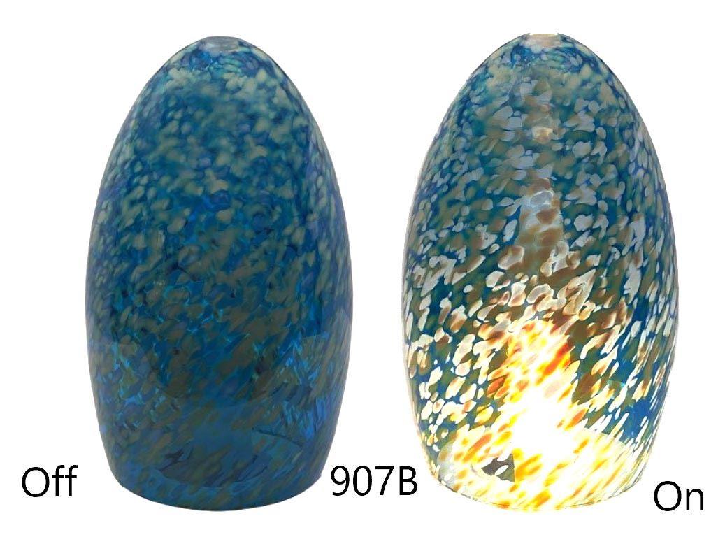 Picture of Blown Glass Pendant Light | Translucent Aqua Speckle