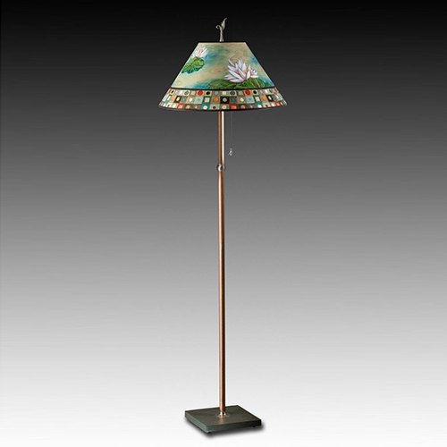 Picture of Janna Ugone Floor Lamp | Water Lily Mosaic