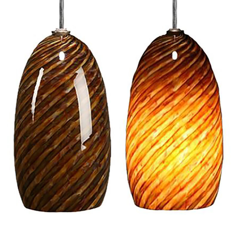 Blown Glass Pendant Light | Dark Alabaster