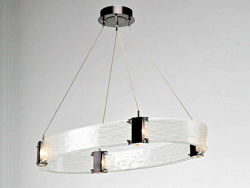 Picture of Parallel Collection Oval Chandelier - SALE